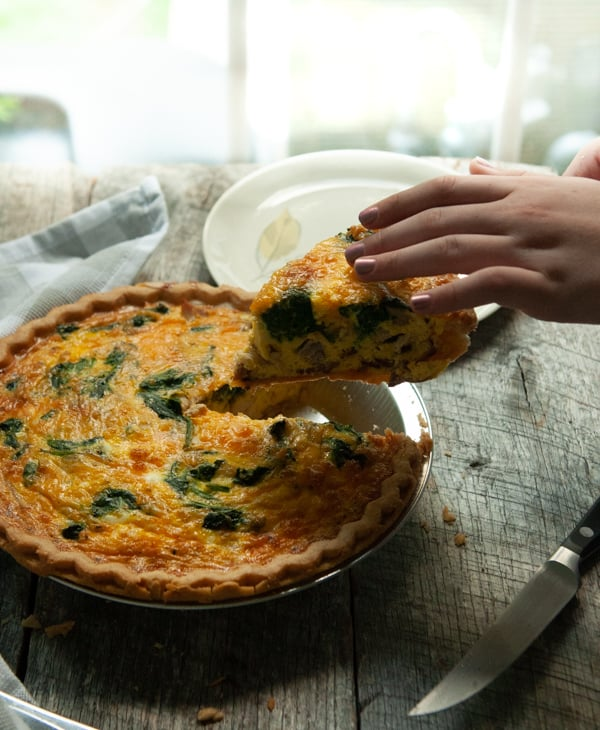 Deep Dish Chicken Bacon Quiche
