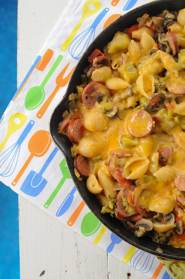 Easy Cheesy Sausage Skillet