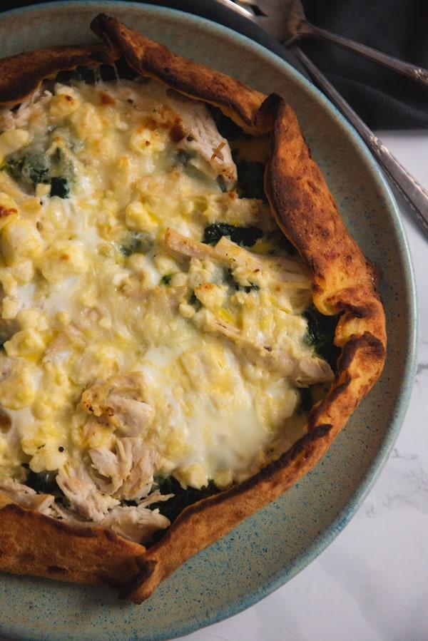 Low Carb Spinach Feta Greek Pie