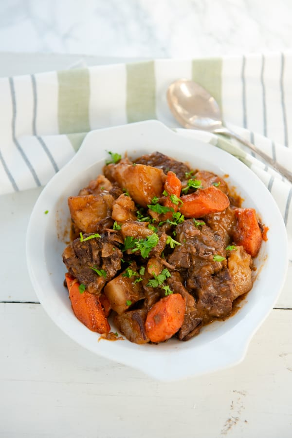 Old Fashioned Beef Stew with red wine
