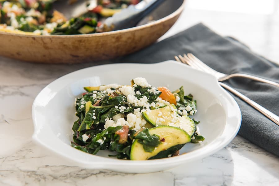 Sauteed Swiss Chard and Zucchini